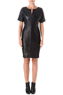 FRENCH CONNECTION Treasure stretch-leather dress