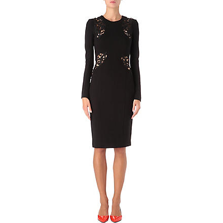 FRENCH CONNECTION Marie lace-insert dress (Black