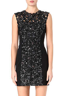 FRENCH CONNECTION Encrusted lace dress