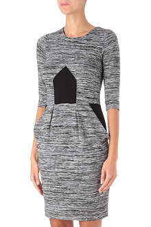 FRENCH CONNECTION City Space panelled dress