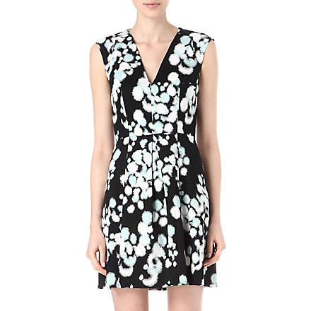 FRENCH CONNECTION Open palette cotton-blend dress (Blk/bakelitebluemult