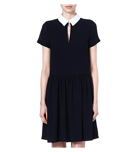 FRENCH CONNECTION Picnic check shirt dress (Utilityblue/white