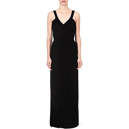 FRENCH CONNECTION Marquee solid jersey maxi dress (Black