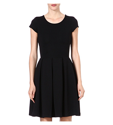 FRENCH CONNECTION Natalia ottoman capped sleeve dress (Black