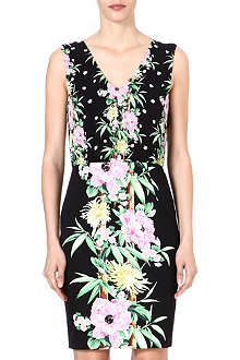 FRENCH CONNECTION Floral stretch-cotton dress