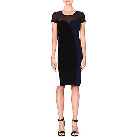 FRENCH CONNECTION Rio panelled dress (Black/noc/white