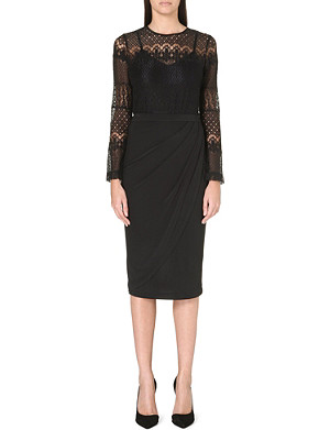 FRENCH CONNECTION Lace drape dress