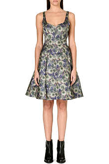 FRENCH CONNECTION Moire Meadow Luxe flared dress