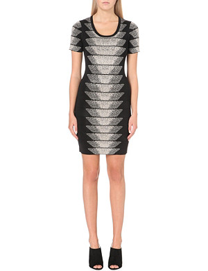 FRENCH CONNECTION Spotlight Fleck jacquard dress
