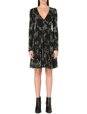 FRENCH CONNECTION Anastasia jersey flared dress