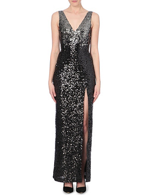 FRENCH CONNECTION Cosmic Sparkle sequinned maxi dress