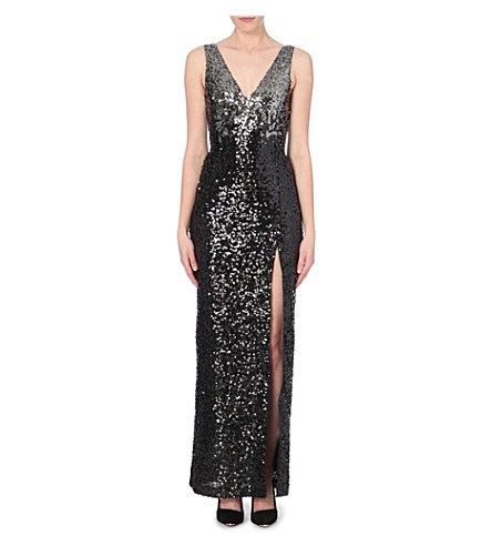 French connection cosmic sparkle sequinned maxi dress for Cosmic pattern clothing