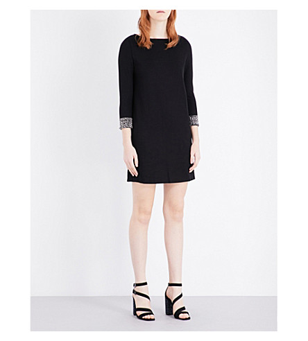 FRENCH CONNECTION Crystal Shot jersey dress (Black/silver
