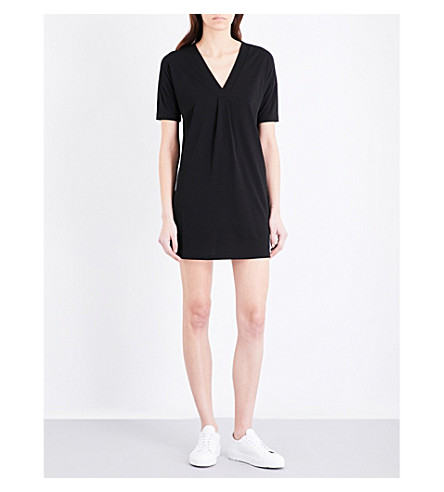 FRENCH CONNECTION Bottero draped crepe dress (Black
