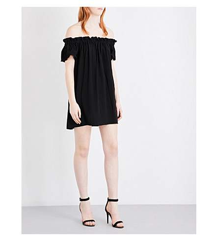 FRENCH CONNECTION Evening Dew crepe dress (Black