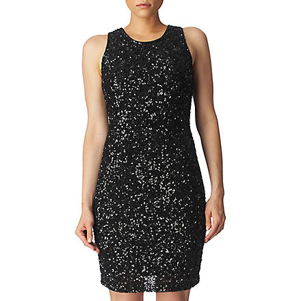 FRENCH CONNECTION Sequinned dress (Black