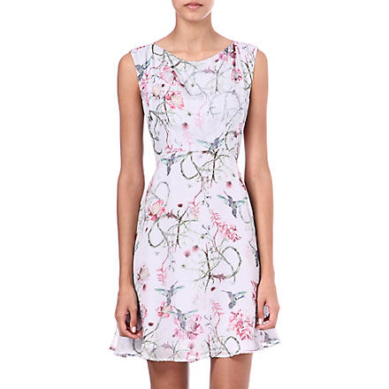 FRENCH CONNECTION Eden of Zola dress (Pale grey/pink multi