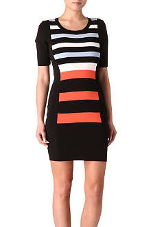 FRENCH CONNECTION Riley striped fitted dress