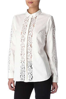 FRENCH CONNECTION Lace-insert shirt