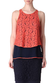FRENCH CONNECTION Poppy layered lace top