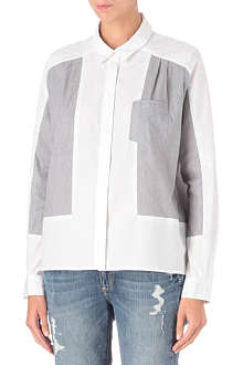 FRENCH CONNECTION Fast Freddy panelled shirt