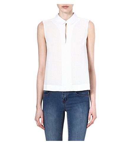 FRENCH CONNECTION Picnic sleeveless top (Antiquelace/white