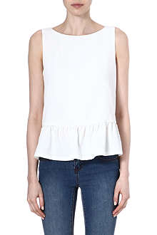 FRENCH CONNECTION Tennis crepe sleeveless top
