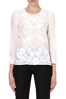 FRENCH CONNECTION Desert Love embroidered top