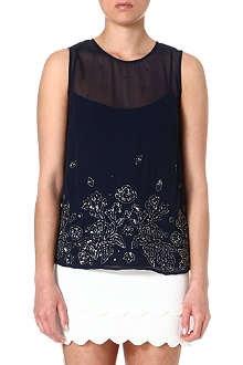 FRENCH CONNECTION Fast quinnie embellished vest top