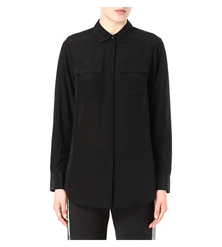 FRENCH CONNECTION Simply silk classic shirt (Black