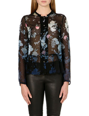 FRENCH CONNECTION Nightfall collarless floral shirt