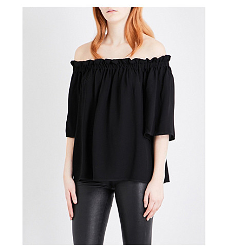 FRENCH CONNECTION Evening Dew crepe top (Black