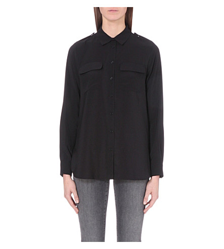 FRENCH CONNECTION Pippa woven shirt (Black