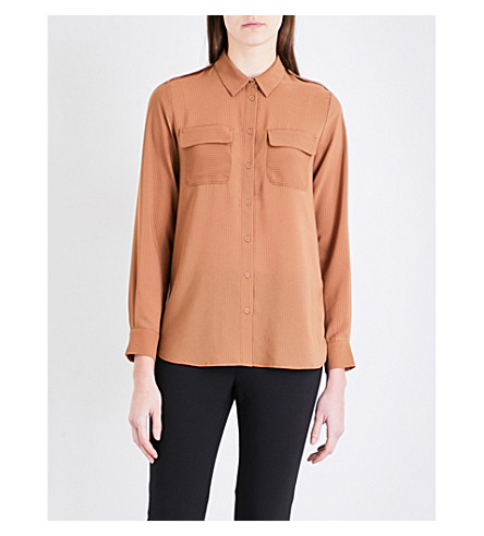 FRENCH CONNECTION Pippa Plains georgette shirt (Terra+tan