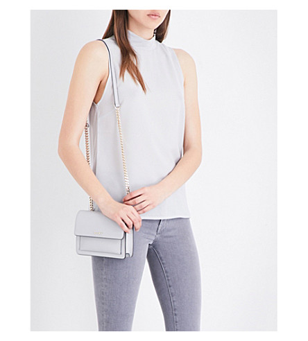 FRENCH CONNECTION Mock neck crepe top (Grey