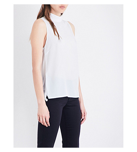FRENCH CONNECTION High neck crepe top (Blue