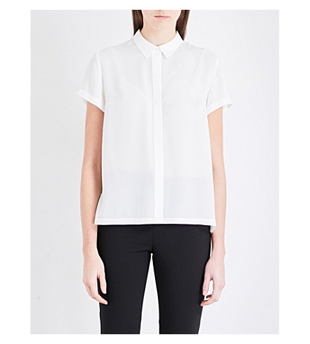 FRENCH CONNECTION Classic crepe top (Summer+white