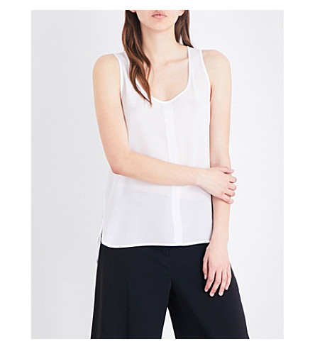 FRENCH CONNECTION Clee loose-fit crepe and jersey top