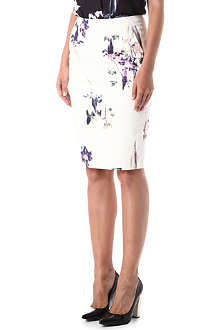 FRENCH CONNECTION Water Flower pencil skirt
