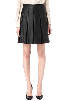 FRENCH CONNECTION Roller girl faux-leather pleated skirt