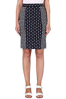 FRENCH CONNECTION Mosaic-print pencil skirt