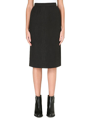 FRENCH CONNECTION Croc luxe pencil skirt