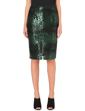 FRENCH CONNECTION Croc Flock sequinned skirt