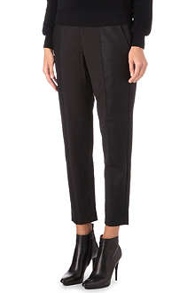 FRENCH CONNECTION Vixen faux-leather panelled trousers