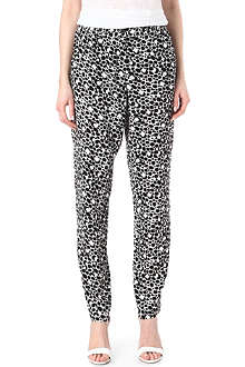 FRENCH CONNECTION Animal palette crepe trousers
