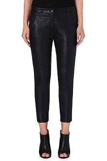 FRENCH CONNECTION Jet leather trousers
