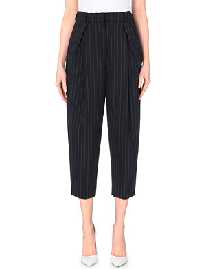 FRENCH CONNECTION Giant pinstriped cropped trousers