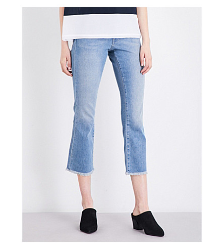 FRENCH CONNECTION Ash kick-flare cropped high-rise jeans (Blue