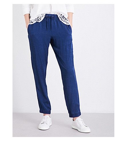 FRENCH CONNECTION Altman chambray jogging bottoms (Navy