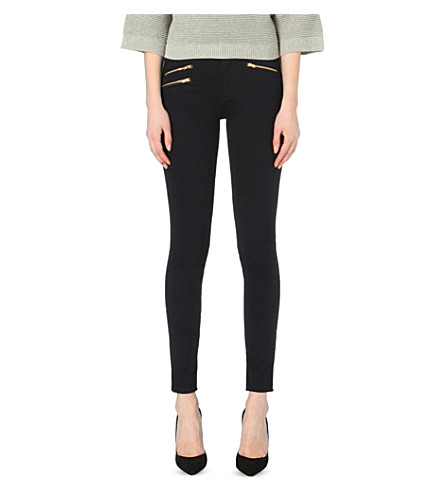 FRENCH CONNECTION Lilly zipper detail skinny jeans (Blue